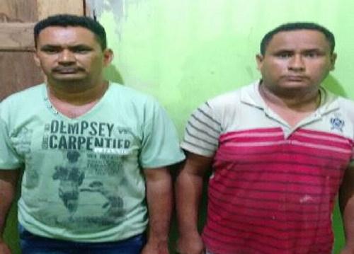 Suspeitos presos. (Foto: Divulgação)