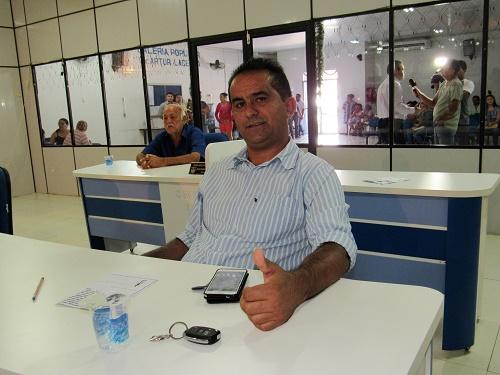 Antônio França - Vereador e Prefeito eleito de Pedreiras/Foto: Sandro Vagner