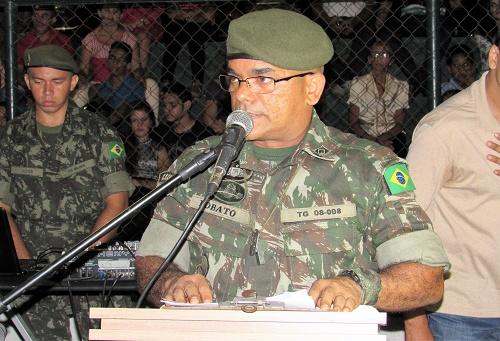 Subtenente Lobato - Chefe de instrução do TG 08-008/Foto: Sandro Vagner